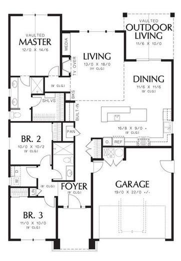 planos de casas con garaje