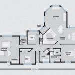 Plano de casa con bow window