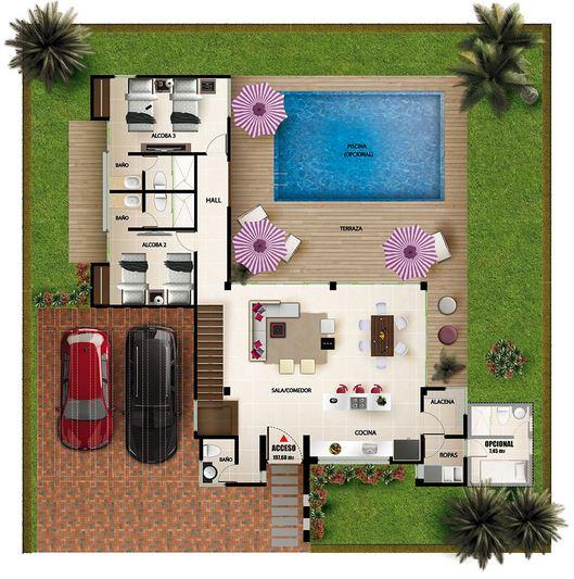 Plano de casa quinta planos de casas modernas for Plano de casa quinta moderna