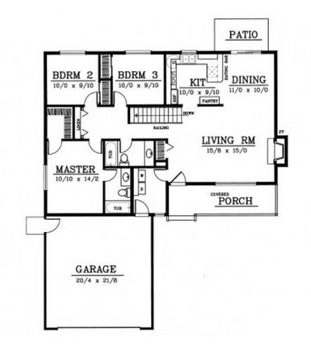 Planos de casas modernas de un piso y 3 dormitorios for Planos de casas modernas de 3 dormitorios