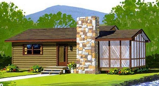 Planos de casas de campo con jard n de invierno for Casa campo y jardin