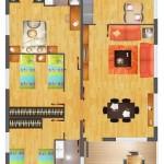 Plano de casa de 8×10 metros