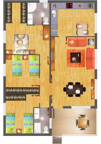 Plano de casa de 8x10 metros for Planos de casas pequenas de una planta