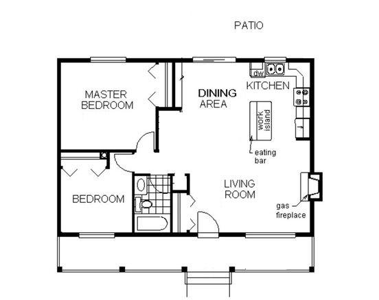 Plano de casa en esquina