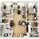 Plano de casa moderna de 75 m2