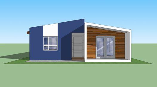 Plano de casa moderna de 90 m2