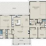 Plano de casa moderna para terreno en forma de L