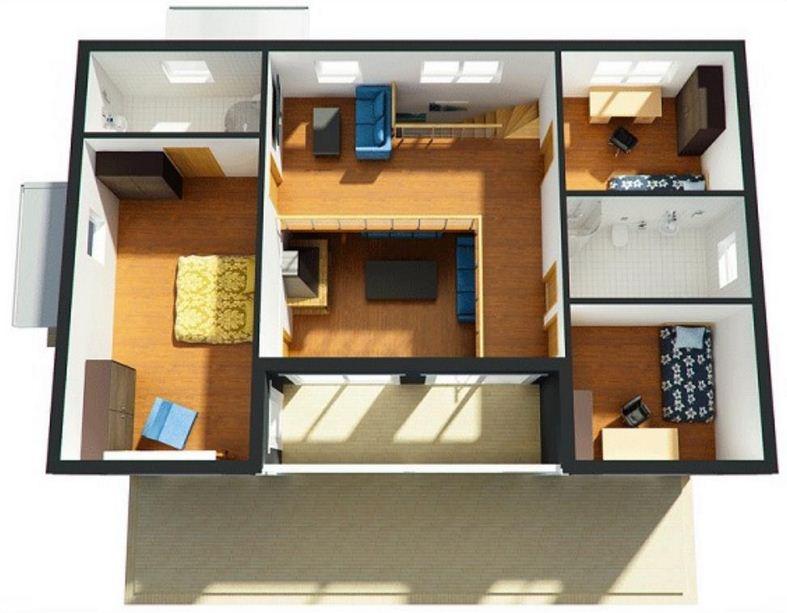 Plano de casa quinta moderna for Planos de casas medianas