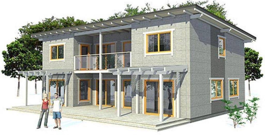 Plano de casa quinta moderna