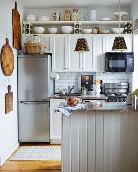 Consejos para aprovechar el espacio en cocinas peque as - Aprovechar espacio habitacion pequena ...