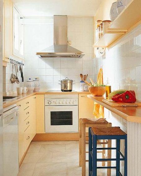 Consejos para aprovechar el espacio en cocinas peque as for Como amueblar una cocina pequena