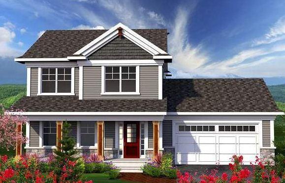 Plano de casa de 3 dormitorios en 2 plantas for Fachadas de jardines para casas