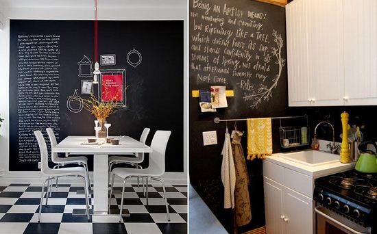 Pintura de pizarrón en cocinas