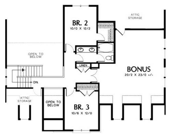 Plano de casa amplia de 2 pisos con garage doble