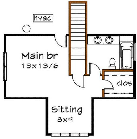 Plano de casa confortable para terreno irregular