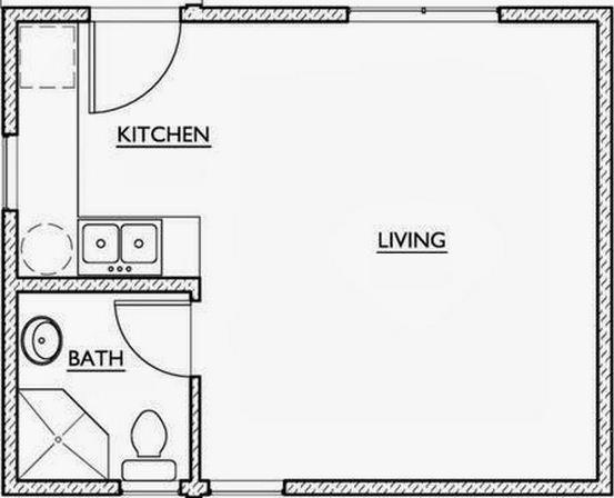 Plano de casa de 35 m2 for Cuarto de 10 metros cuadrados