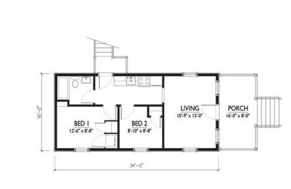 Plano de casa familiar económica