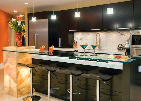 Barras desayunadoras modernas for Barras para casa