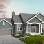 Plano de casa con garage doble