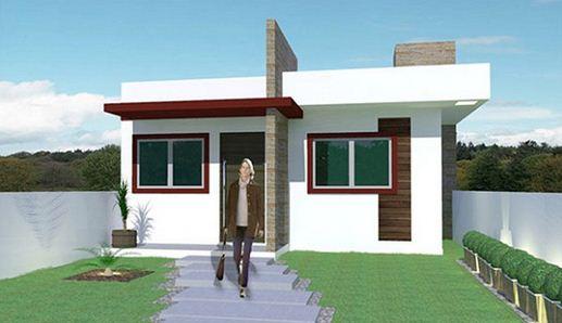 Fachada de casa de 2 dormitorios sin garaje