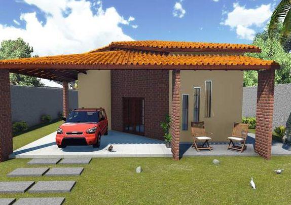 Fachadas de casas para terrenos de 10 x 25 m