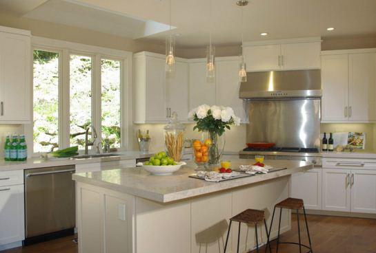 Mesadas de granito en cocinas modernas