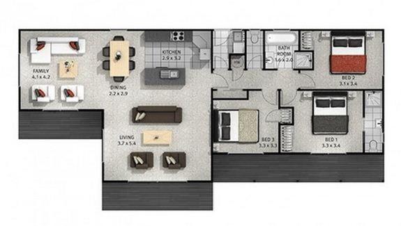 Planos de casas de campo for Planos de casas de campo de 3 dormitorios