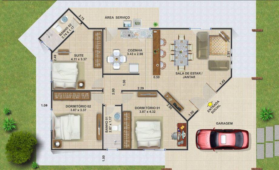 planos de casas de dos pisos 10 x 20