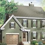Plano de casa de dos pisos y tres habitaciones