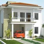 Plano de casa moderna de 2 pisos y 125 m2