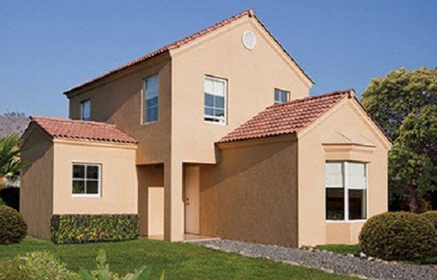 Fachadas de casas modernas de 120 m2