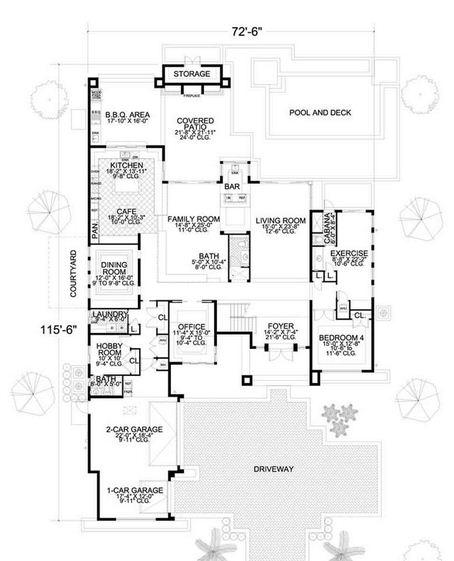 Gimnasio planos de casas modernas for Dimensiones arquitectonicas