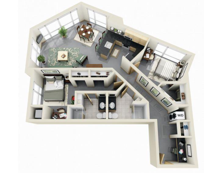 Vestidor planos de casas modernas for Planos de apartamentos modernos