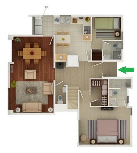 Planos de casas 5 dormitorios