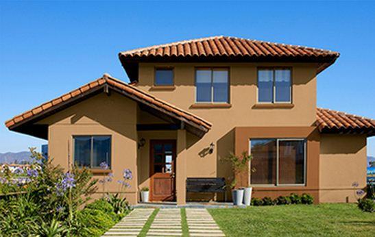 Pintura para fachadas de casas planos de casas modernas - Pintura exterior colores ...