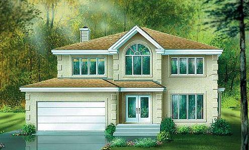 Bow window planos de casas modernas - Fachadas de casas modernas planta baja ...