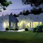 Plano de casa de una planta y 4 dormitorios