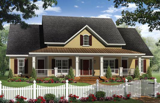 Fachada de casa norteamericana tradicional