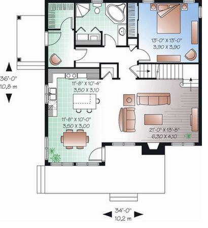 Plano de casa con medidas en metros for Las medidas de una casa libro