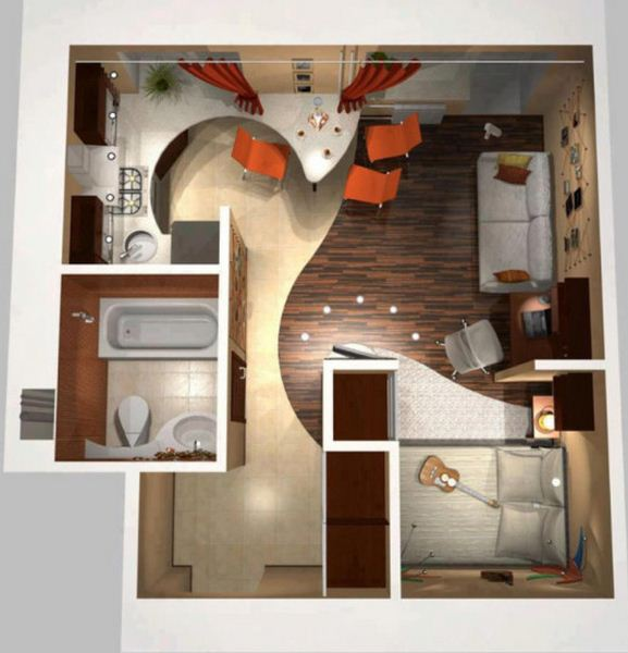 plano de casa con muebles designing the micro house interior home interior design