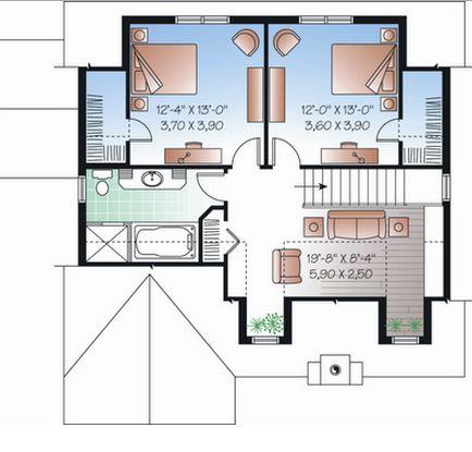 planos de casas pequenas con medidas en metros en 3d