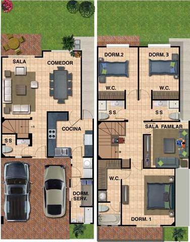 Plano de casa para terreno de 8 x 16 for Diseno de casa de 5 x 10