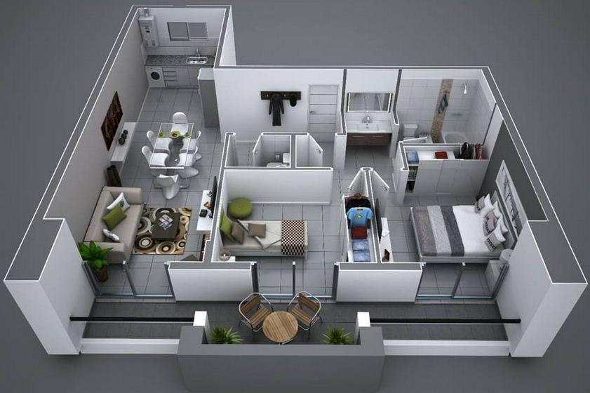 Plano de departamento moderno planos de casas modernas for Departamentos minimalistas planos