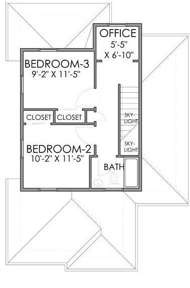 Planos de casas de madera de 3 habitaciones