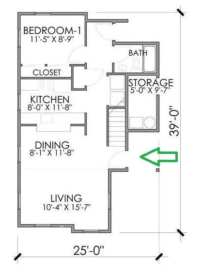 Planos de casas de madera de tres habitaciones