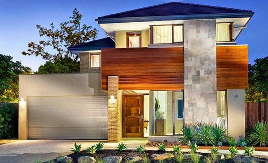 Fachadas de casas planos de casas modernas for Casas modernas planos y fachadas