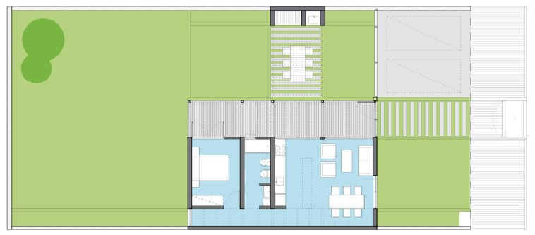 Plano de casa chica del plan procrear for Planner casa