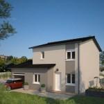 Plano de casa completo con 2 pisos