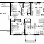 Plano de casa confortable de 2 dormitorios