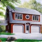 Plano de casa de 2 pisos y 125 metros cuadrados